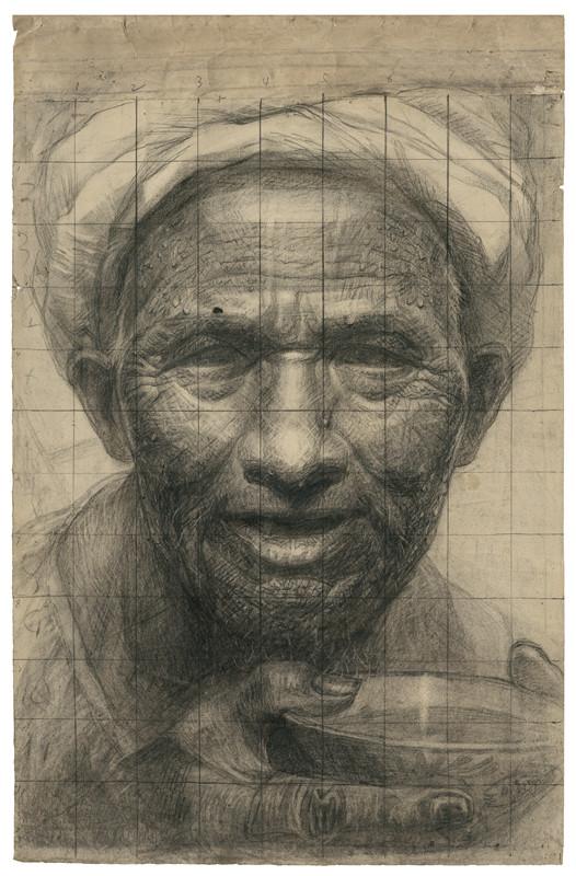 24 父亲手稿 素描 68.5x43.5cm 1979年