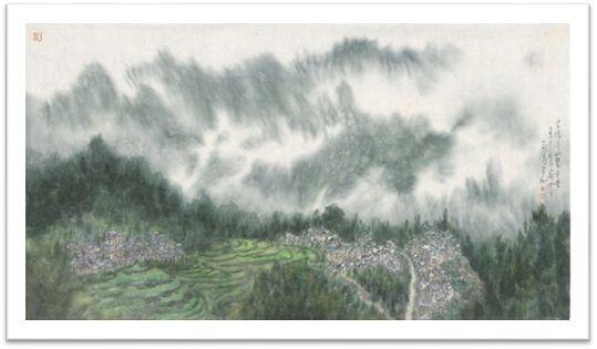 《云隔青山几多重》数字版画