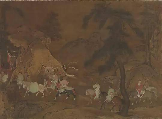 南宋 佚名 明皇幸蜀图 轴 美国大都会博物馆藏