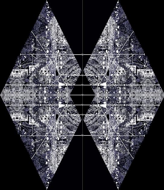 苏岩声作品 图景 --21 80×70cm 丝网版 2016