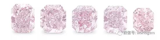 五颗钻石裸石   估价:14000-16000英镑   来源: WATCHES & JEWELLERY ONLINE