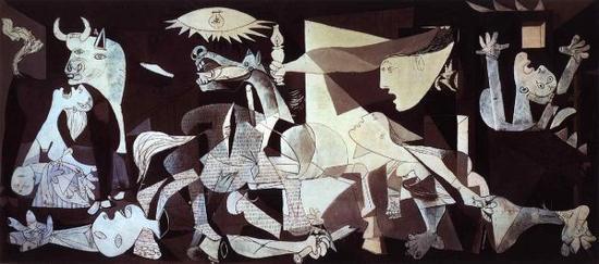 毕加索的画作《格尔尼卡》(资料图片)