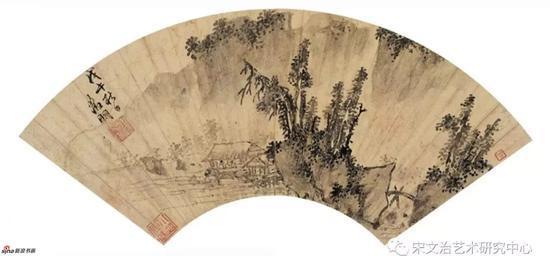 文徵明 墨笔山水 1558年