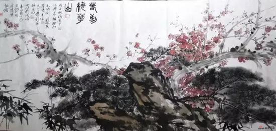 艺术家合创作品——《春到梅花山》