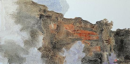包洋 《江行初雪 NO.27》布面油画