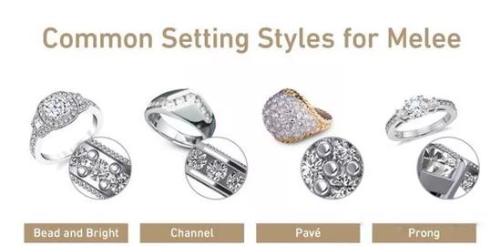 常见的米粒钻石镶嵌样式