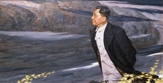 疾风 140.0x70.0 cm 油彩麻布 1976年 第五届全国美术作品展览 中国美术馆收藏
