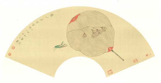 《谁人知此味--野茉莉》--杨仁魁--纸本彩墨--65cmX33cm
