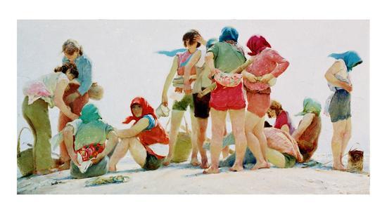 1984 大海潮90x180cm  第六届全国美展