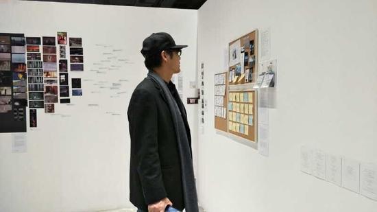 王春辰在展览现场