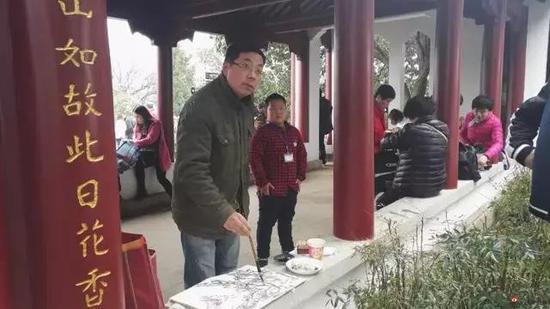 江苏省中国画学会理事 顾光明写生采风