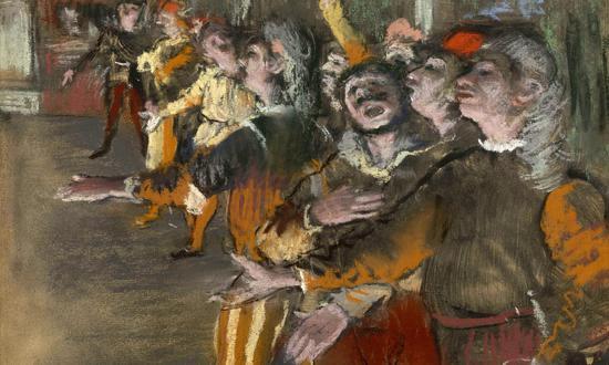 德加创作于1877年的《Les Choristes》