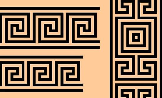 不同造型的回形纹