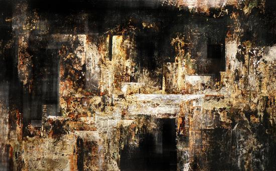 马俊营作品 《都市建构系列—天问》120cm×75cm 2009年