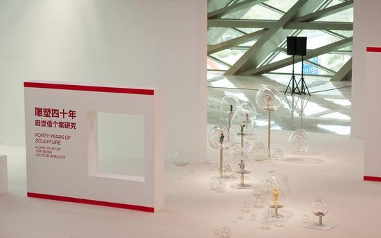 田禾《泡泡系列》尺寸可变  青铜、丙烯、吹制玻璃   2009年-2013 年