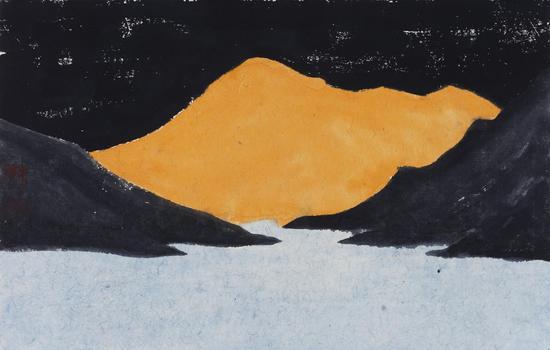 枯山水No.8 19.5x30cm 纸本设色 2016