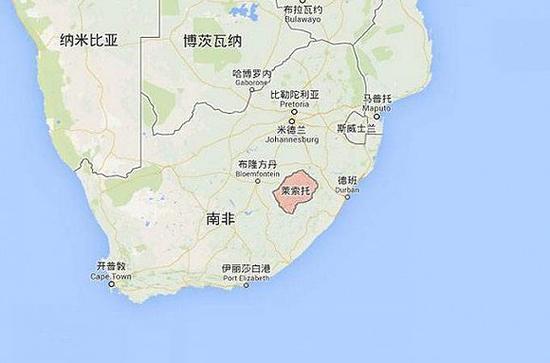 被南非环绕的非洲内陆国家莱索托