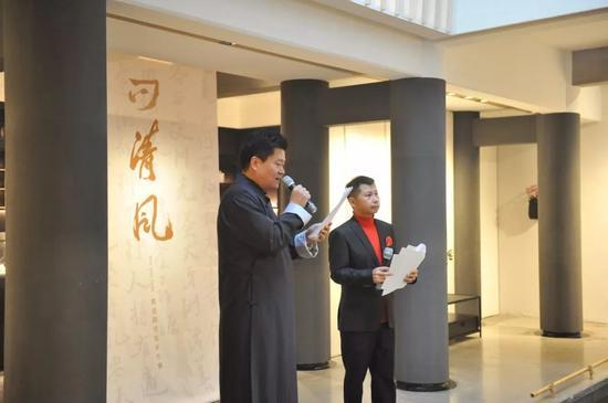 中国书法家协会理事杨中良 著名表演艺术家何云伟联袂主持
