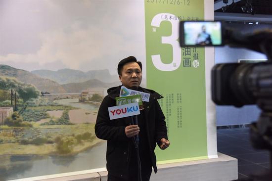 《艺术市场》杂志社副主编武文龙接受采访