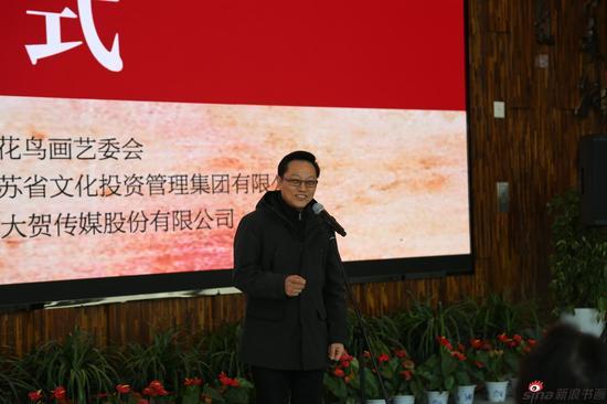 江苏省中国画学会会长、江苏省美术馆名誉馆长、江苏省美协副主席高云致辞