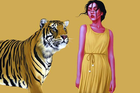 美女与野兽 油画100x150cm 2017 许德奇