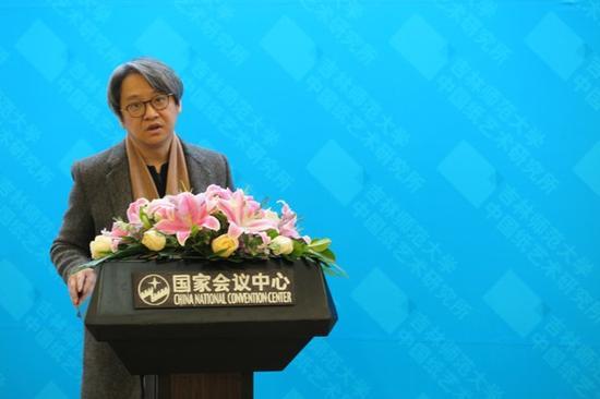 北京画院副院长、北京画院美术馆馆长吴洪亮致辞
