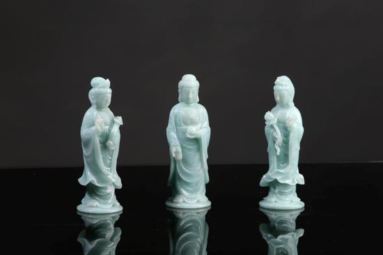 方卡东玉雕作品《西方三圣》