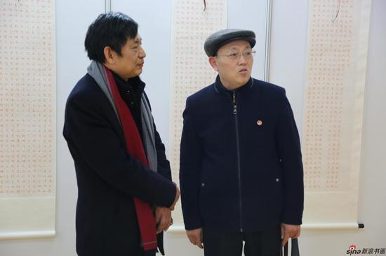 江苏省直书法家协会主席汪寅生和明远居士