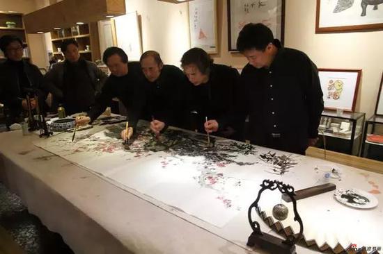 江苏省中国画学会艺术家们合创作品