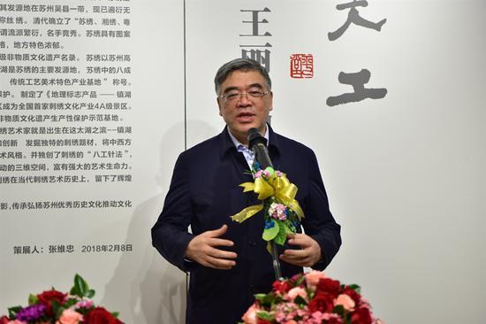 全国政协副秘书长、常委,民进中央专职副主席朱永新先生致辞