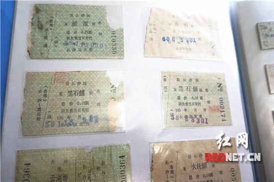 徐芦萌收藏的长沙市郊车票。
