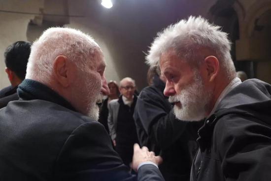 (左)捷克著名汉学家KRAL 和捷克著名艺术家KOKOLIA