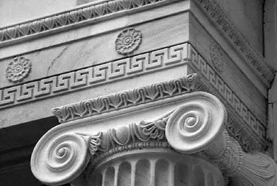 欧洲古建筑上的回形纹