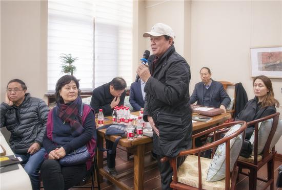 画家、河北大学教授、原保定画院院长袁辉先生致辞