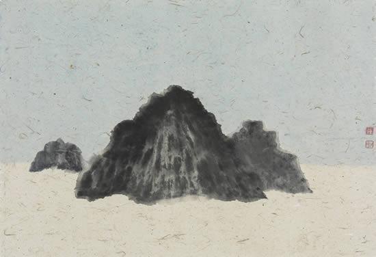 钟小明 枯山水No.20 47x69cm 纸本设色 2016