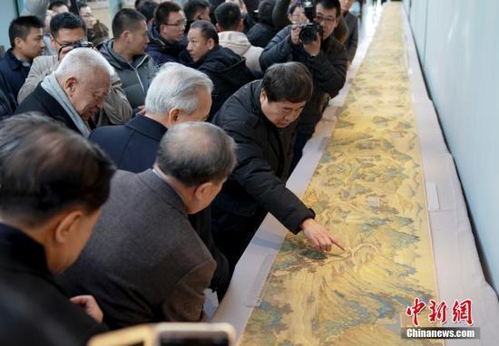 《丝路山水地图》。 中新社记者 杜洋 摄