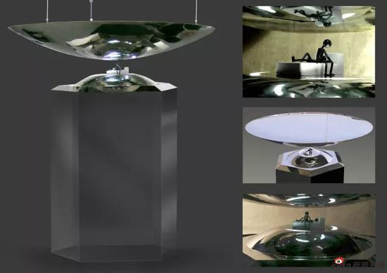 傅春禹 金属·符号 2007 镜面不锈钢、树脂、LED 180x180x60cm