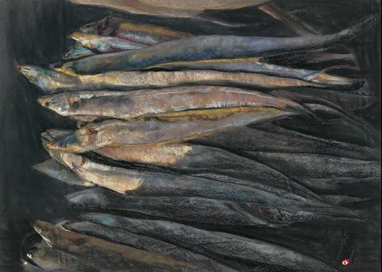 毛小锋[陕西] 鱼系列之光 52×73cm
