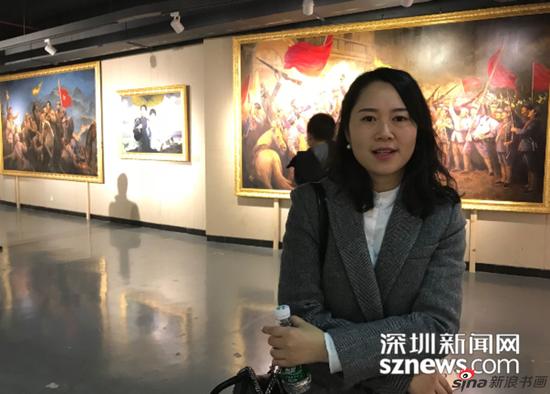 来自成都的汪小姐接受记者采访