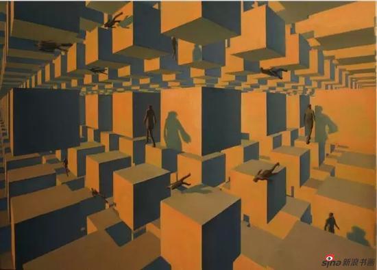 严嘉韦 多重空间 2013 布面油画 110×80cm