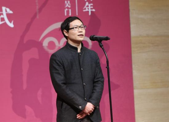 中国美术馆党委书记张士军在开幕式上致辞