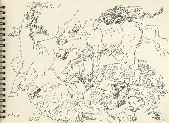 15 金钱豹手稿 24.5×18cm 2012