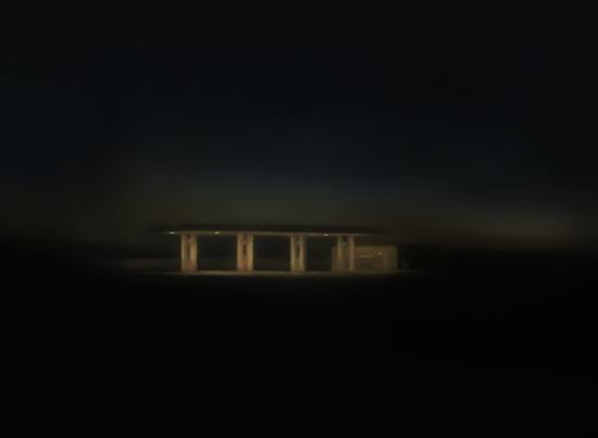 康继徽《Invisible Scenery No.1》纸上色粉 71.5x51.5cm 2017