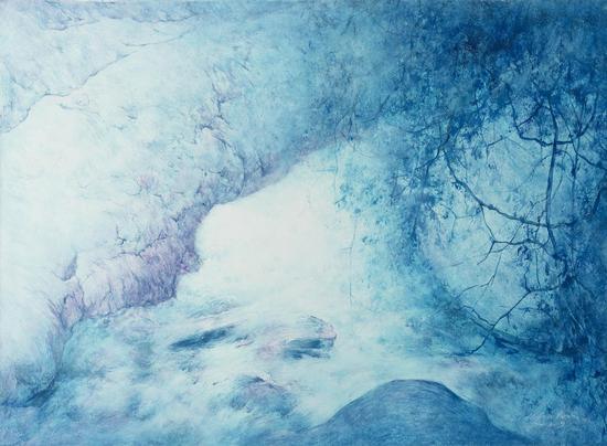 何金安 《秋水》 布面油画 60cm×80cm2016年