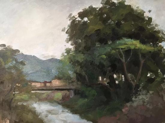安然《写生一》40x50cm2017年布面油画。webp