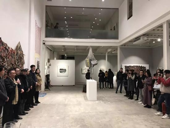 开幕现场 著名艺术评论家皮道坚先生致辞