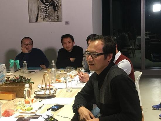 新星星艺术奖年度策展人王春辰在终评会议现场