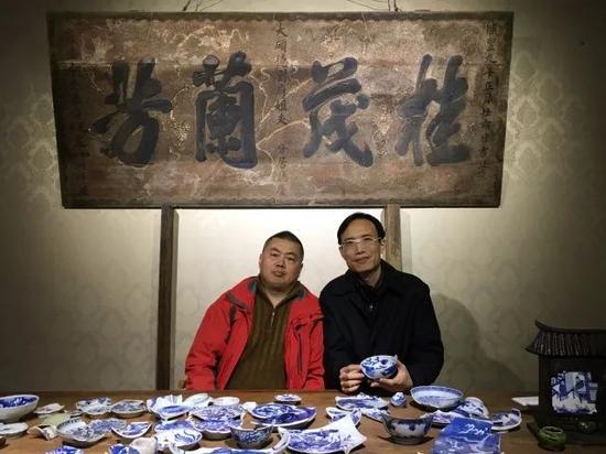 资深古陶瓷鉴赏家、收藏家刘越老师到觐见古陶瓷艺术空间交流
