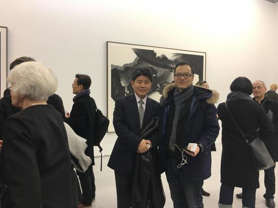 中国驻纽约文化参赞李立言来参观