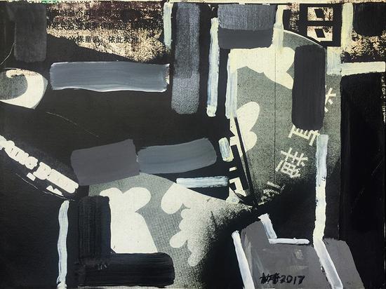 王劼音作品 《素象1》 综合材料 46X61cm 2017--